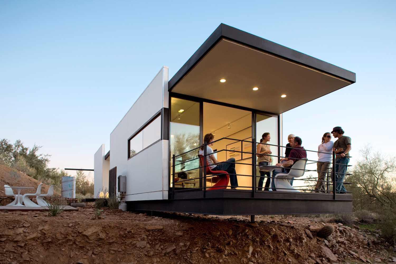 casa prefabricada barata en el desierto
